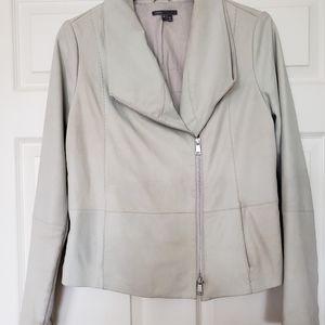 Vince Off-white Leather Moto Jacket size XL